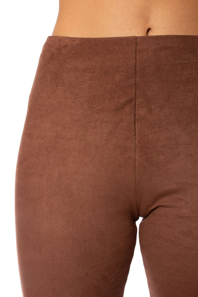 Lysse - High Waist Suede Pants (1730, Dark Brown) alt view 4
