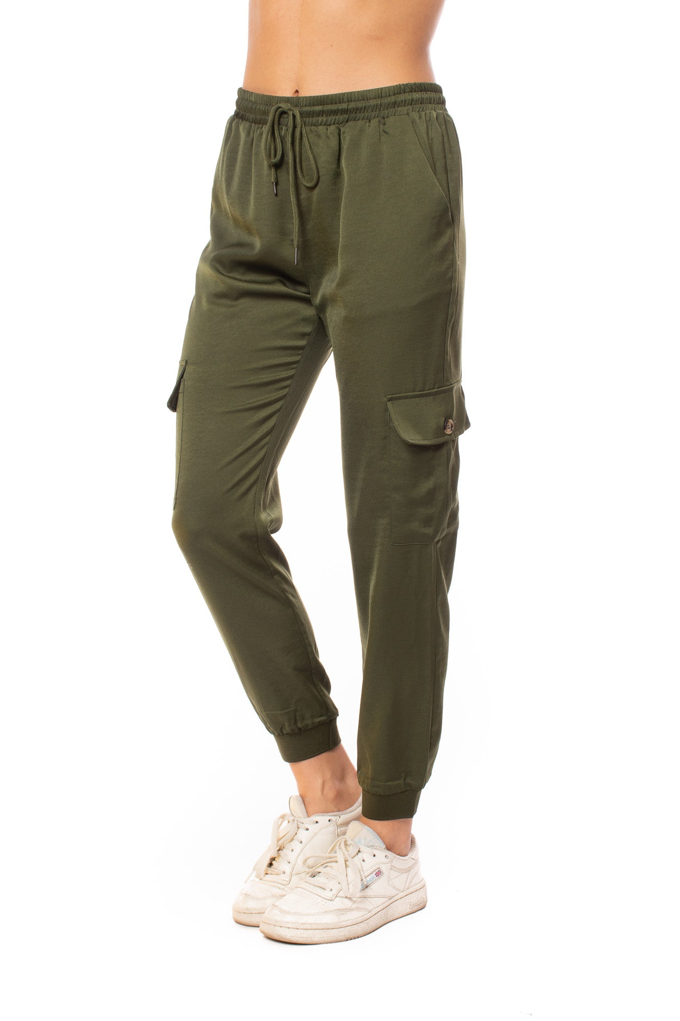 Heartland - Cassis Draw String Cargo Pocket Jogger (207rz8a, Olive)