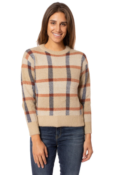 To The Loyal - Checkered Sweater (TMK1108, Tan) alt view 1