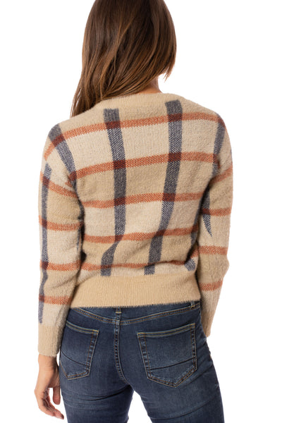 To The Loyal - Checkered Sweater (TMK1108, Tan) alt view 3