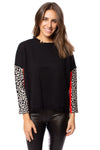 To The Loyal - Color Block Cheetah Sweater (TMK1045, Black) alt view 6