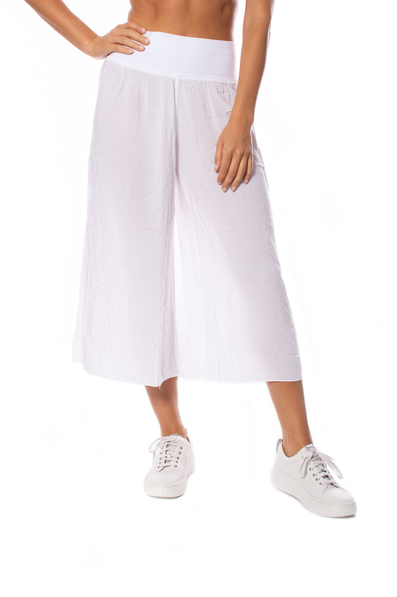 Hard Tail Forever - Ray/Voil Flat Waist Crop Pant (RV-38, White)