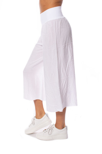 Hard Tail Forever - Ray/Voil Flat Waist Crop Pant (RV-38, White) alt view 1