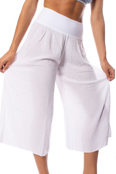 Hard Tail Forever - Ray/Voil Flat Waist Crop Pant (RV-38, White) alt view 5