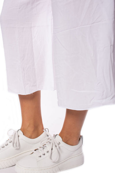 Hard Tail Forever - Ray/Voil Flat Waist Crop Pant (RV-38, White) alt view 7