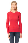 LA Made - Long Sleeve Thermal Sweatshirt (TH-100, Amber Red)