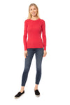 LA Made - Long Sleeve Thermal Sweatshirt (TH-100, Amber Red) alt view 6