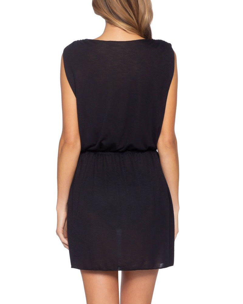 Becca Breezy Black Plunge Dress