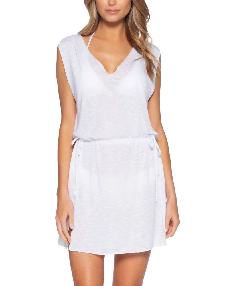 Becca Breezy White Plunge Dress