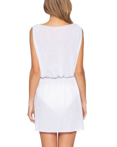 Becca Breezy White Plunge Dress alt view 1