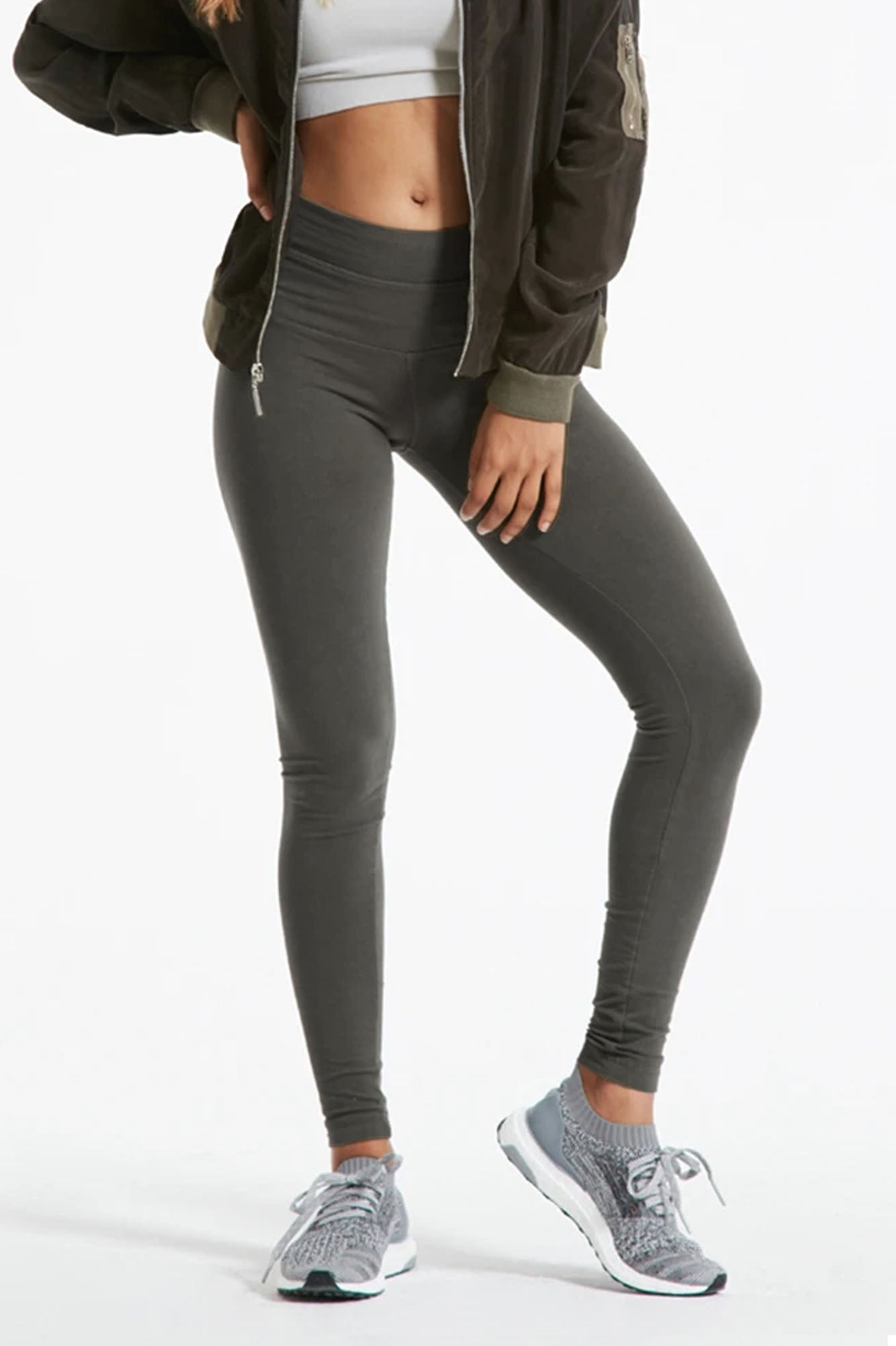 Hard Tail Forever - High Rise Ankle Legging (W-566, Dark Charcoal)