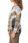 XCVI - Maya V Neck Tie-Dye Sweater (13940b, Blue & Green Tie-Dye) alt view 2