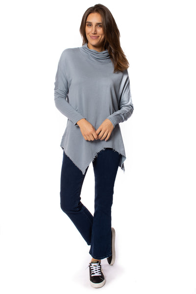 XCVI - Cabor Solid Turtleneck (13865, Spry Blue)