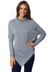 XCVI - Cabor Solid Turtleneck (13865, Spry Blue) alt view 1
