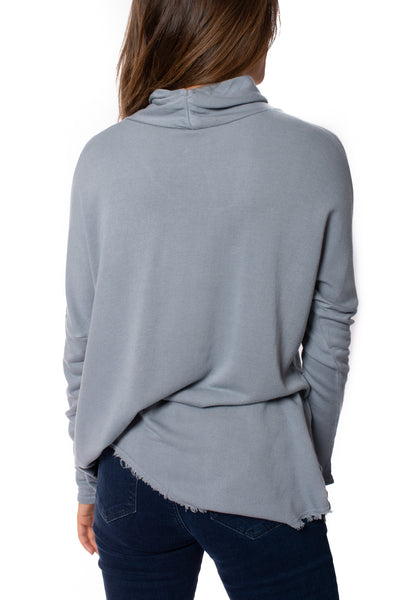 XCVI - Cabor Solid Turtleneck (13865, Spry Blue) alt view 3