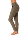 XCVI - Pull On Elastic Band Two Pocket Sullivan Pants (22456, Fatigues) alt view 1