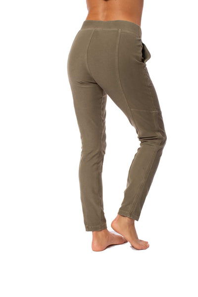 XCVI - Pull On Elastic Band Two Pocket Sullivan Pants (22456, Fatigues) alt view 2