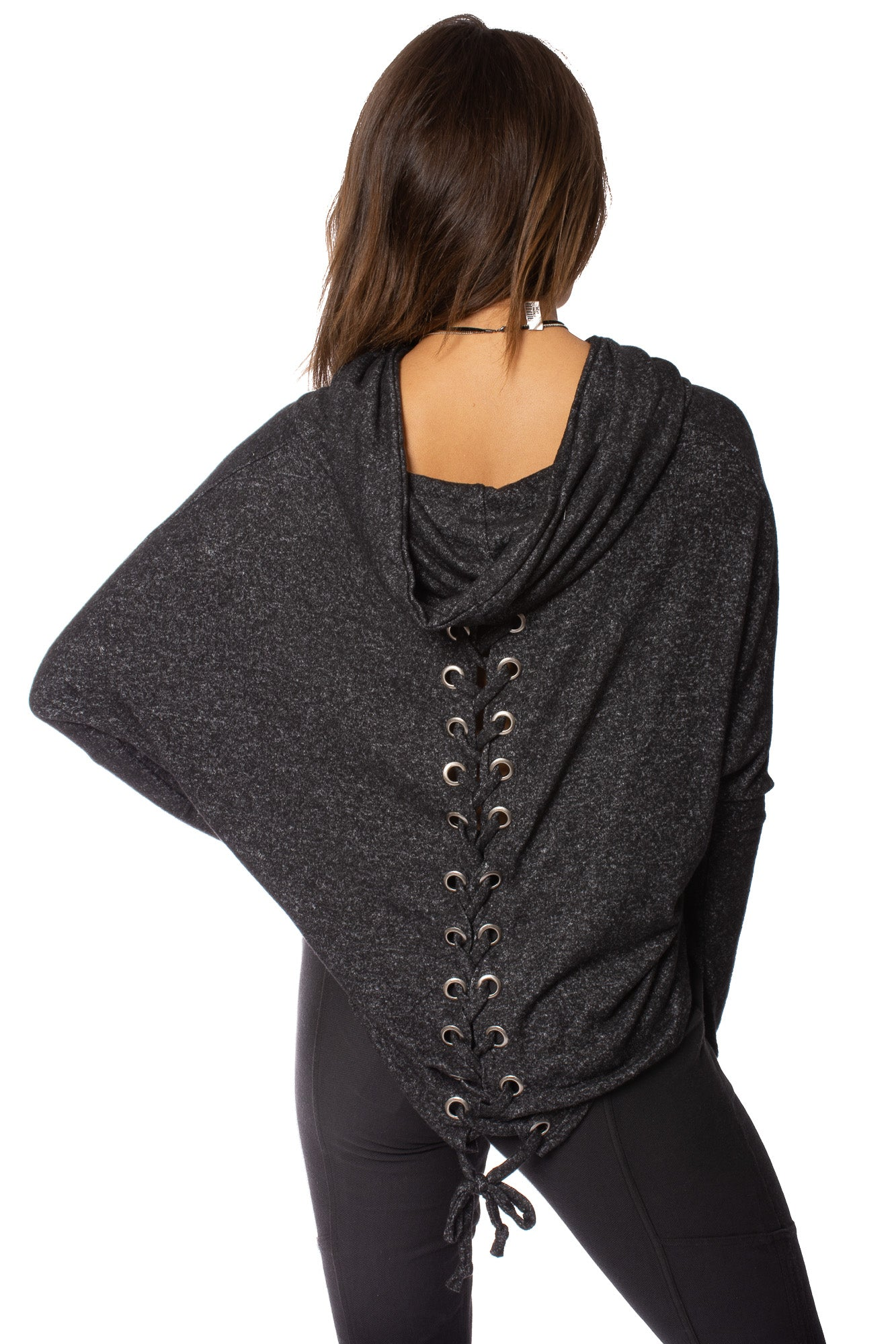 Lou & Co. - Tie Back Sweatshrt (W381, Charcoal)