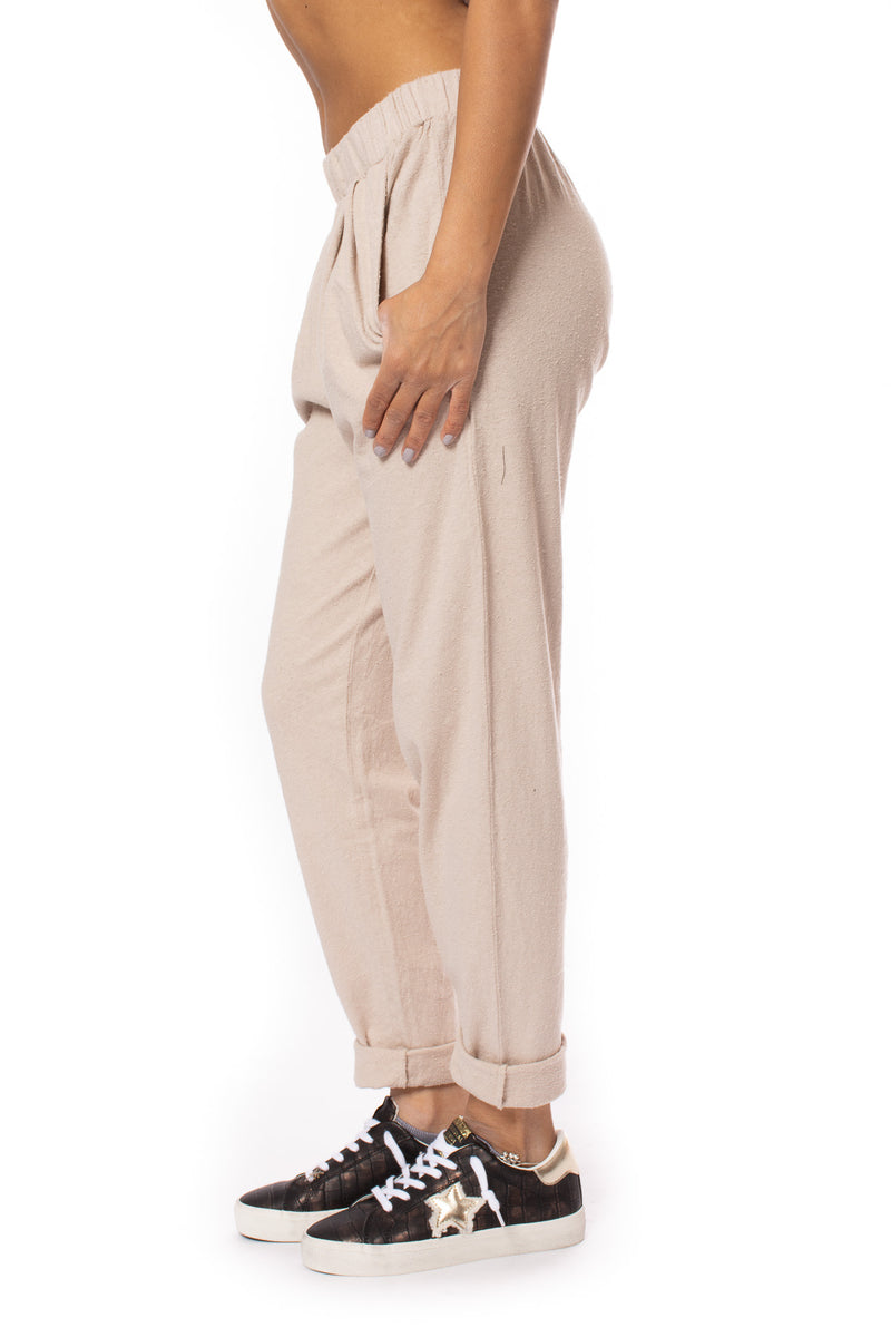 Bobi - Double Pocket Front Pleat Pant (57A, Sandy)
