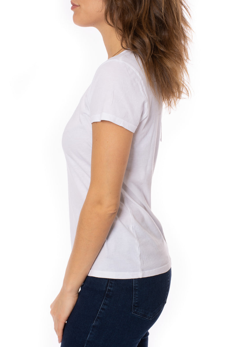 Bobi - Short Sleeve Scoop T (57A-60034, White)