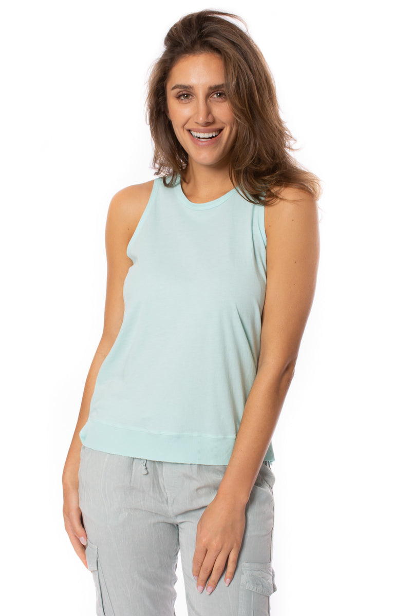 Bobi - Sleeveless Top (57A-91139, Turquoise Blue)