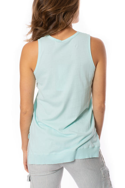 Bobi - Sleeveless Top (57A-91139, Turquoise Blue) alt view 3