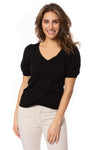 Bobi - Puffy Sleeve Top (57A-60071, Black) alt view 1