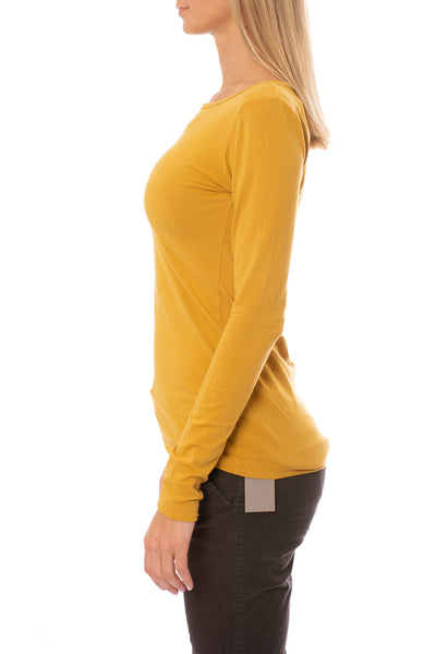 Supima/Lycra Long Sleeve Scoop Tee (Style SL-69, Honey) by Hard Tail Forever alt view 1