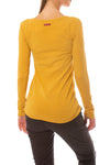 Supima/Lycra Long Sleeve Scoop Tee (Style SL-69, Honey) by Hard Tail Forever alt view 2