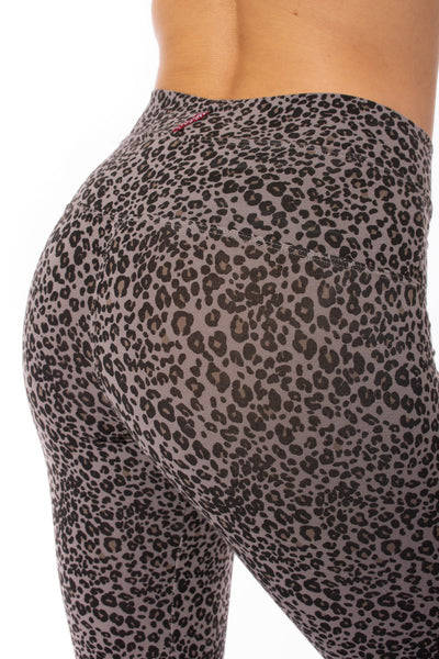 Hard Tail Forever - High Rise Ankle Legging Leopard Print (LW-566, Leopard Wood) alt view 2