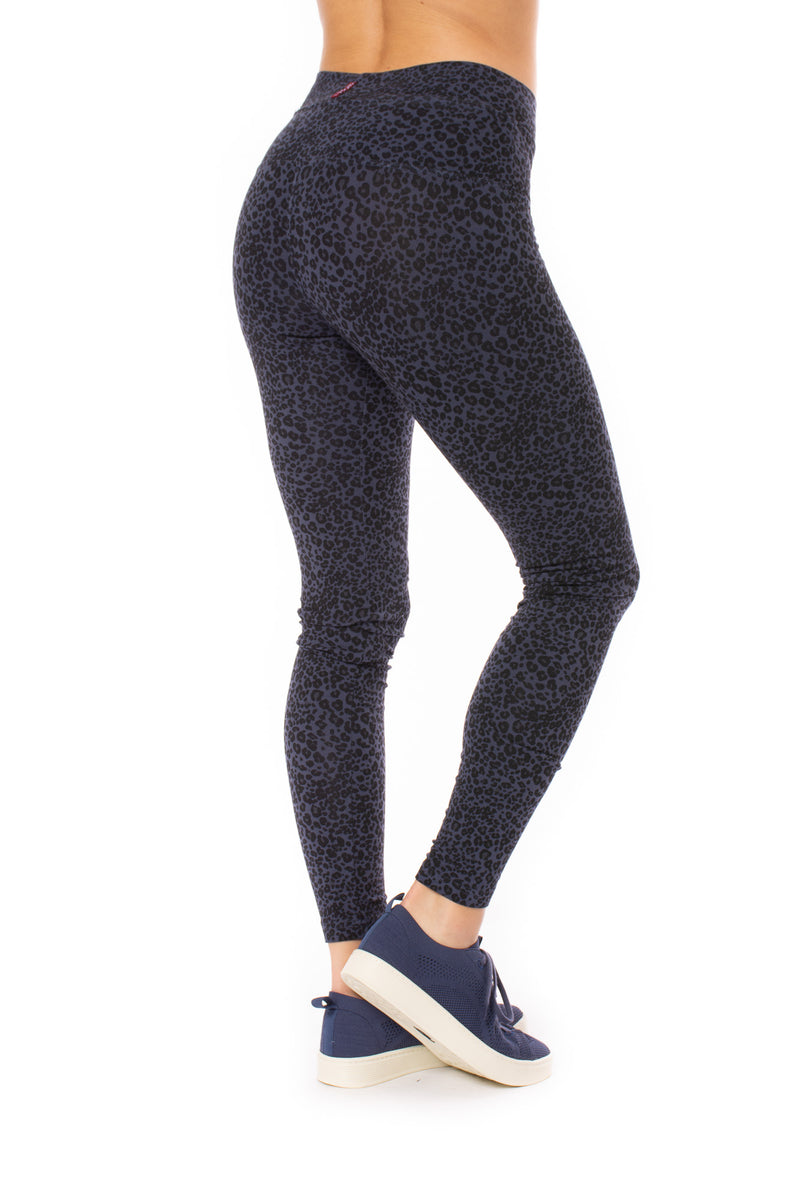 Hard Tail Forever - High Rise Ankle Legging Leopard Storm Print (LW-566, Leopard Storm)
