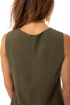 Apricot - A Line Sleevless Dress (450561, Khaki) alt view 5
