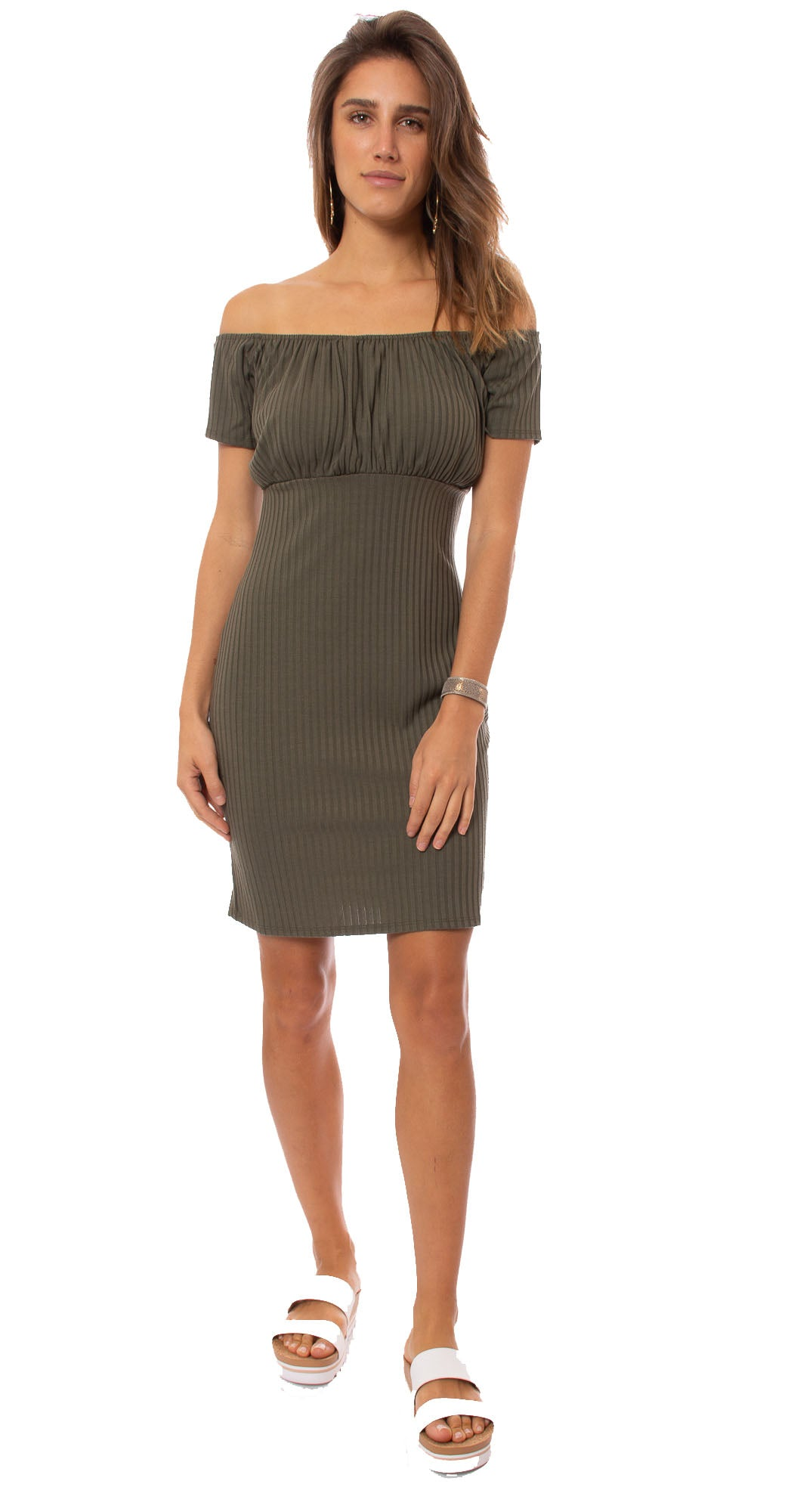 Apricot - Fitted Dress (453173, Khaki)
