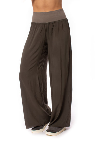 Hard Tail Forever - Flat Waist Wide Leg Pant (RV-03, Thyme)