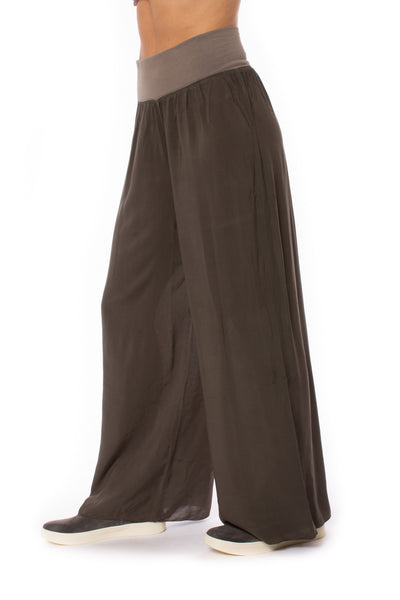 Hard Tail Forever - Flat Waist Wide Leg Pant (RV-03, Thyme) alt view 3