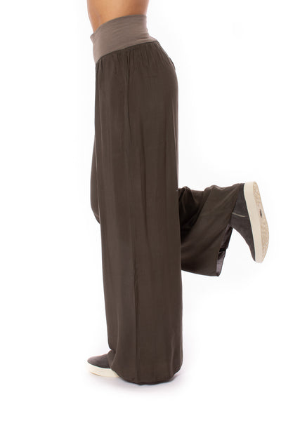 Hard Tail Forever - Flat Waist Wide Leg Pant (RV-03, Thyme) alt view 7