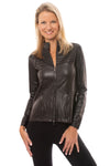 Spanx - Faux Leather Motorcycle Jaket (50158R, Black)