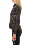 Spanx - Faux Leather Motorcycle Jaket (50158R, Black) alt view 1