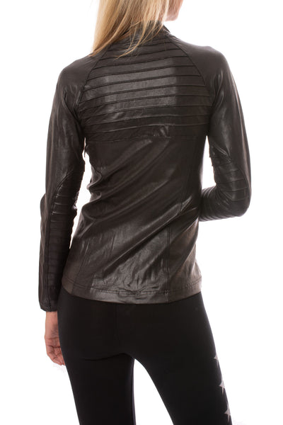 Spanx - Faux Leather Motorcycle Jaket (50158R, Black) alt view 2