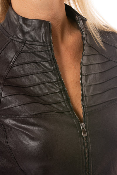 Spanx - Faux Leather Motorcycle Jaket (50158R, Black) alt view 5