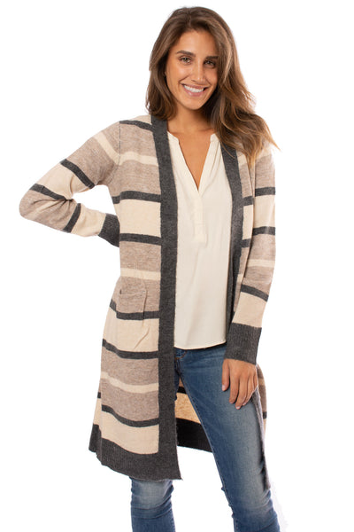 Mystree - Striped Cardigan (18792, Tapioca Pudding Stripes)