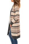 Mystree - Striped Cardigan (18792, Tapioca Pudding Stripes) alt view 1