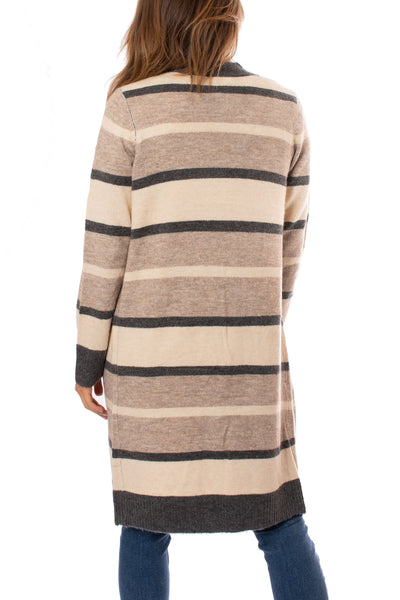 Mystree - Striped Cardigan (18792, Tapioca Pudding Stripes) alt view 2