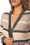 Mystree - Striped Cardigan (18792, Tapioca Pudding Stripes) alt view 5