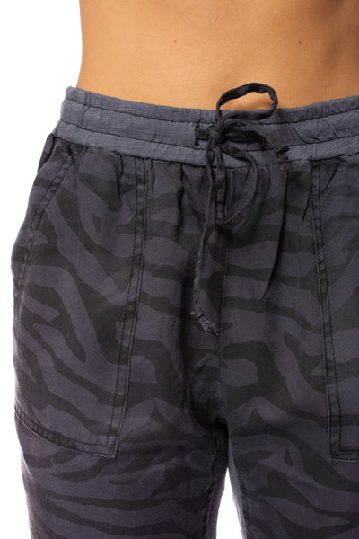 Vintage Havana - Tencel Draw String Jogger (CC8712, Slate Animal Print) alt view 4