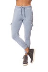 Vintage Havana - Burnout Drawstring Jogger (vh8864, Light Sky Blue) alt view 1