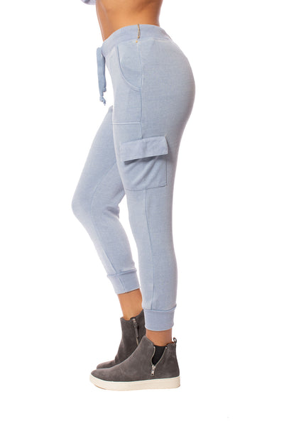 Vintage Havana - Burnout Drawstring Jogger (vh8864, Light Sky Blue) alt view 2