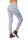 Vintage Havana - Burnout Drawstring Jogger (vh8864, Light Sky Blue) alt view 3