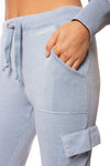 Vintage Havana - Burnout Drawstring Jogger (vh8864, Light Sky Blue) alt view 4
