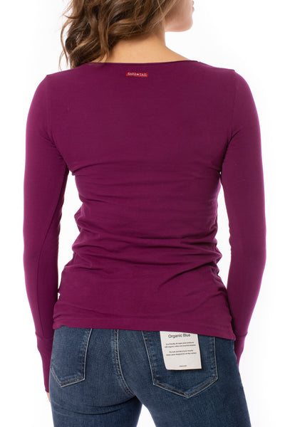 Hard Tail Forever - Cotton Lycra Long Sleeve W/Thumbhole (SL-143, Boysenberry) alt view 2